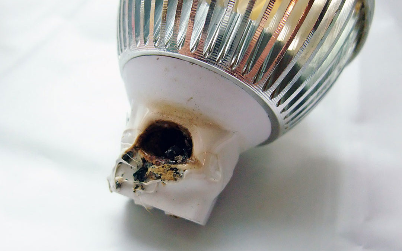 последствия перегрева Led-лампы.