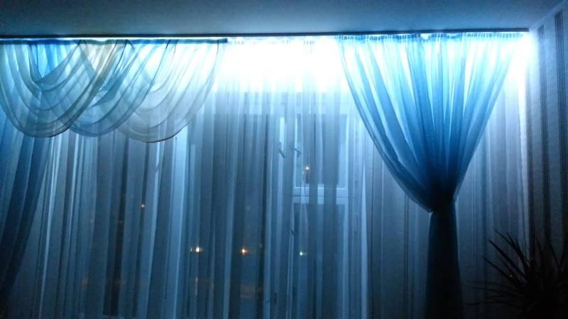 Как установить светодиодную ленту на карнизе для штор