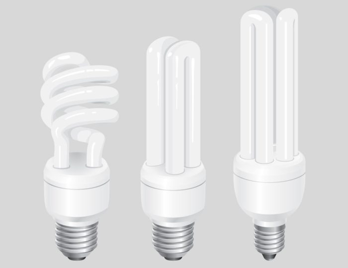 люминесцентные лампочки.