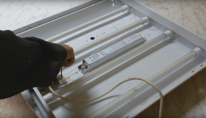 Процедура замены осветительного оборудования