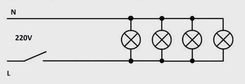 Схема параллельного подключения