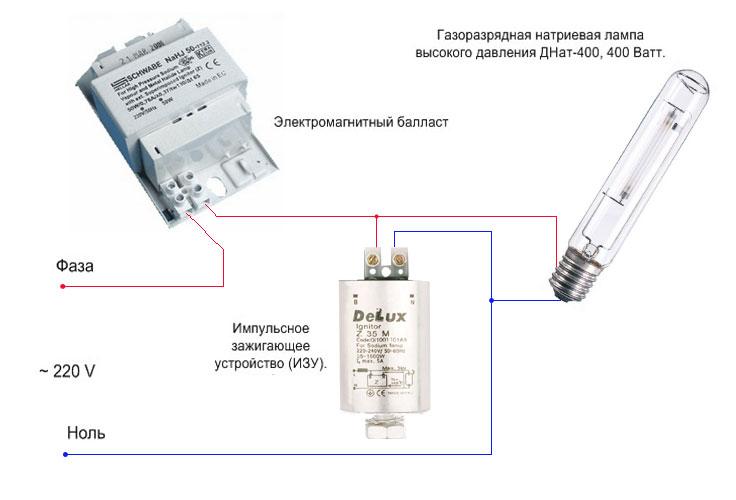 Схема подключения к цепи