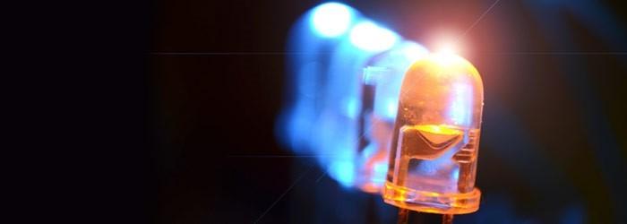 светодиод крупным планом
