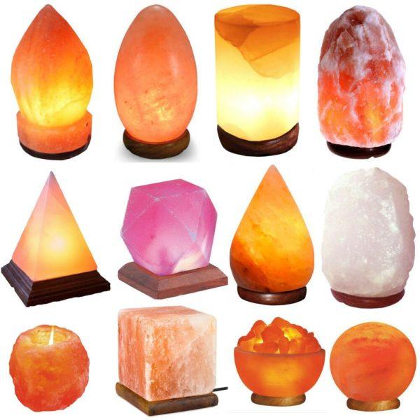 Формы соляных светильников