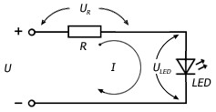 схема для расчета резистора