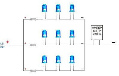 Схема последовательно-параллельного соединения устройств