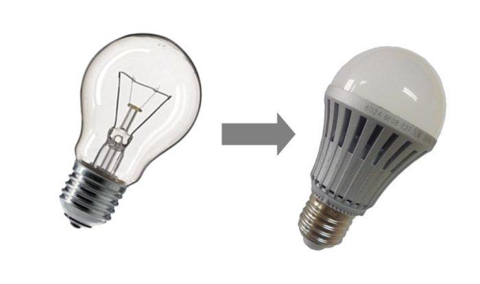 Замена источника освещения