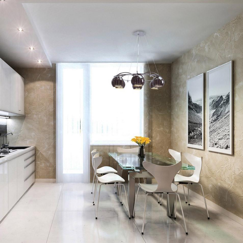 Как сделать освещение кухни точечными светильниками в натяжном потолке