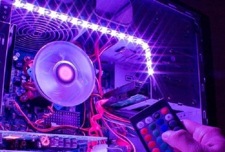 Подключение светодиодной ленты 12В к компьютеру