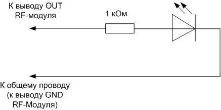 Схема простого пробника на LED.