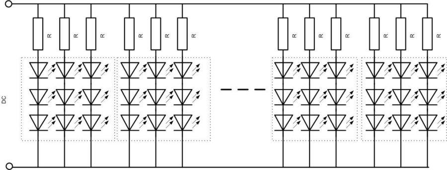 Схема светодиодной ленты.