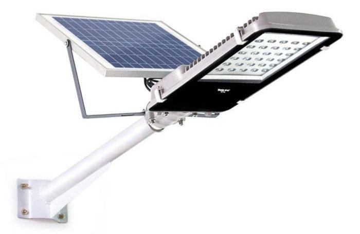 типичный LED-светильник на солнечной батарее.
