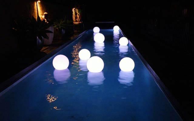Плавающие светильники.