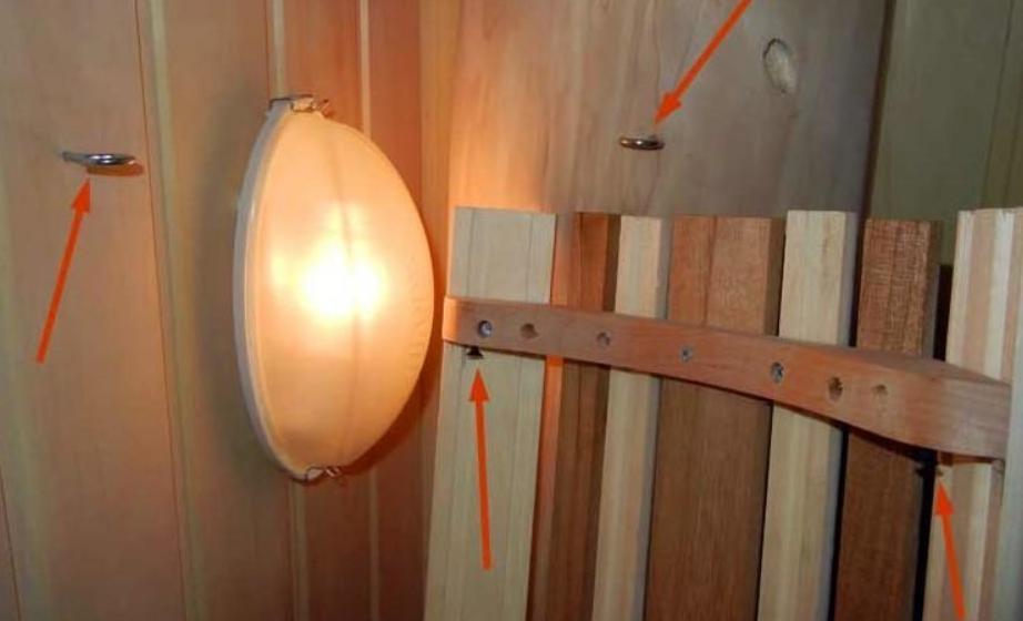 Проводка освещения в баню своими руками