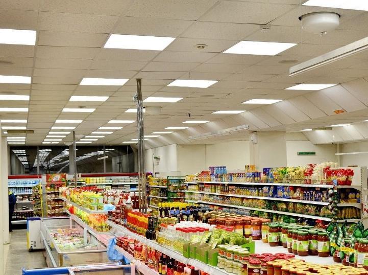 Искусственное освещение в торговых залах