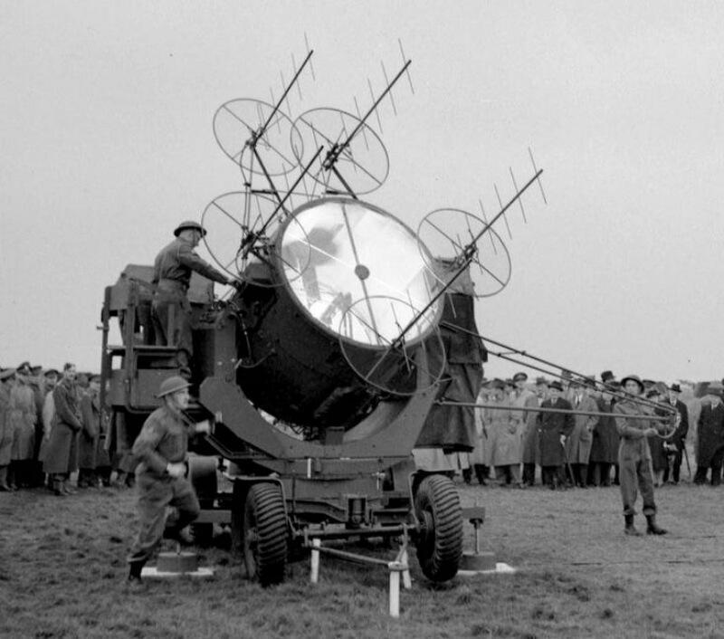 Поисковый прожектор ПВО времен Первой мировой войны