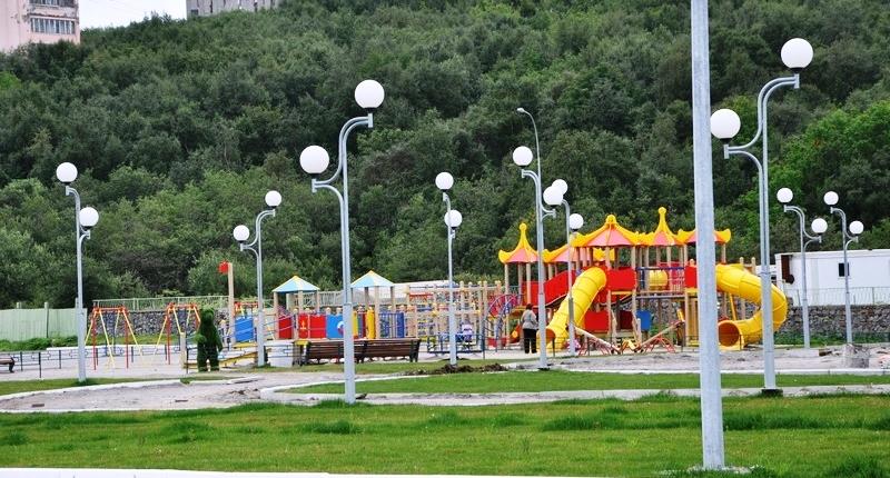 Освещение детской площадки