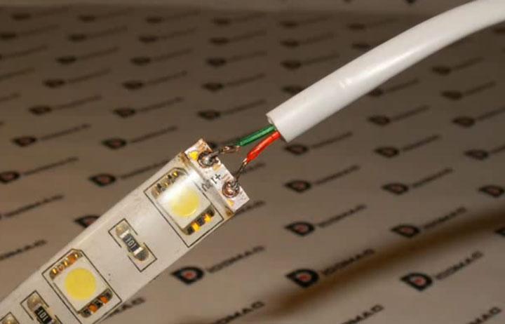 Технология пайки светодиодной ленты своими руками