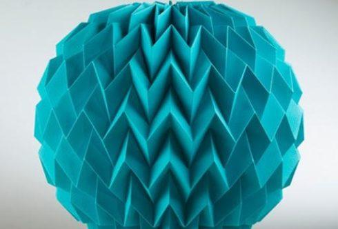 бумажный светильник оригами