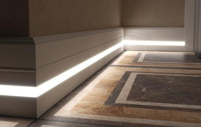 Как сделать подсветку пола в квартире своими руками
