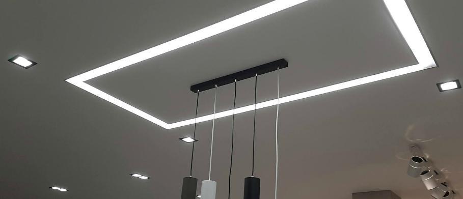 Световые полосы как дополнение к основному свету.