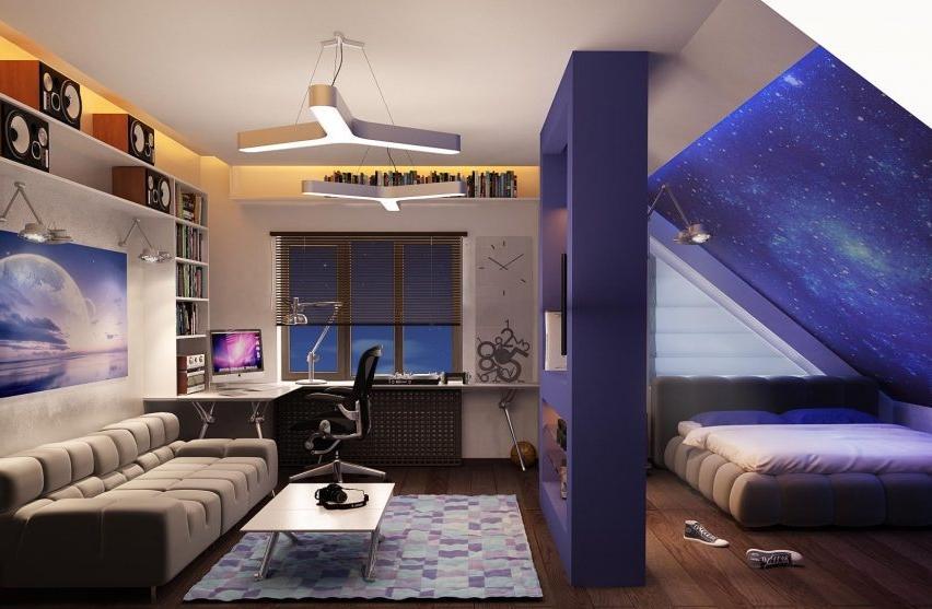 Особенности освещения мансардного этажа
