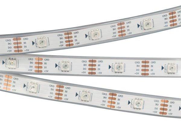 Особенности подключения и управления адресной светодиодной лентой