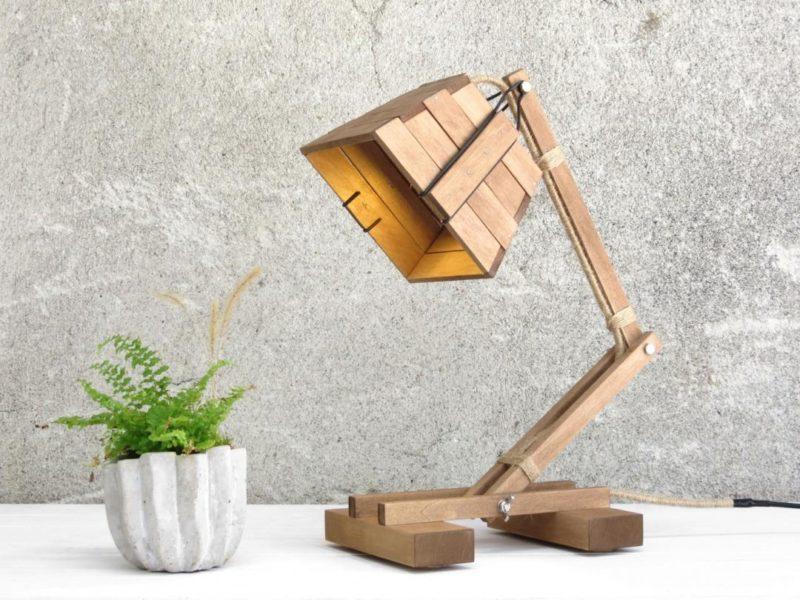 Деревянный светильник Буратино.