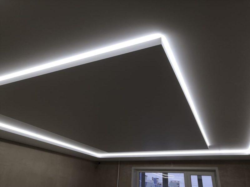 Подсветка потолка по периметру своими руками