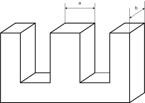 Определение площади сердечника.