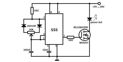 Схема диммера на таймере 555.