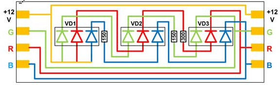 Схема одного элемента RGB