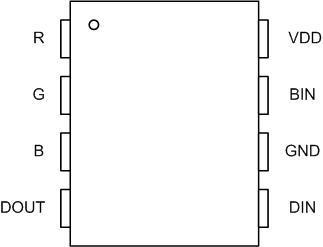 Цоколевка WS2818 с дополнительным выходом данных.