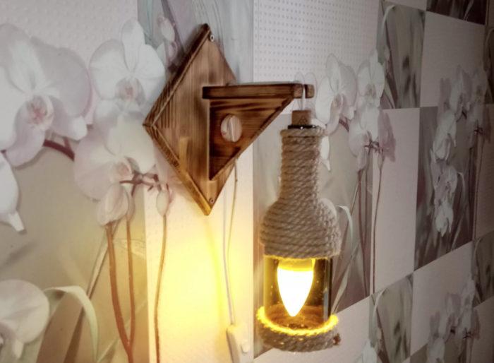 7 идей для изготовления светильников из бутылок