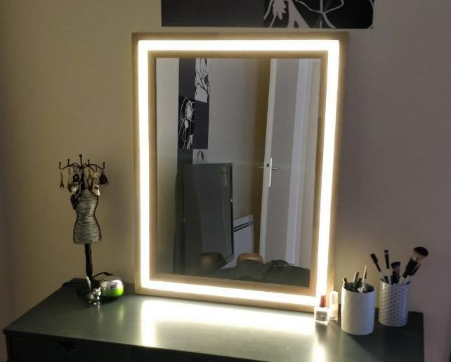Пошаговая инструкция по самостоятельному изготовлению зеркала с подсветкой