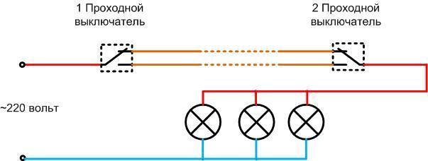 Как подключить свет через выключатель — схемы расключения