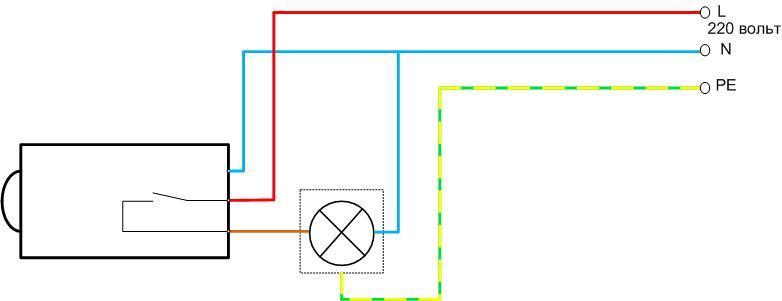 Схема подключения датчика освещенности