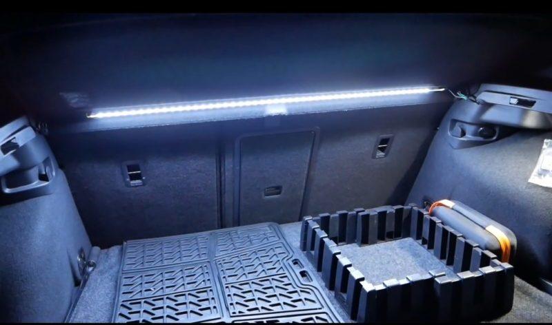 Как правильно подключить освещение багажника светодиодной лентой